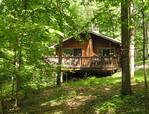 Whitman woods a berkshire vacation - Houses woods nature integrated ...